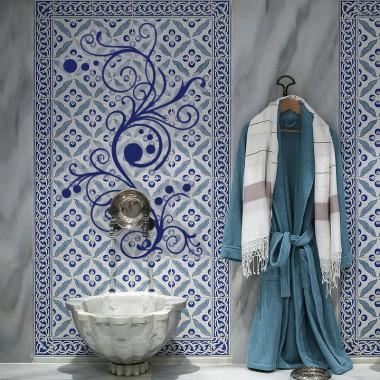 adhésif oriental arabesque rond