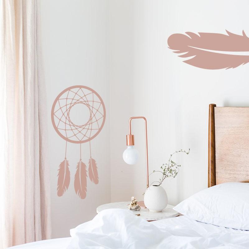 sticker attrape r ves simple. Black Bedroom Furniture Sets. Home Design Ideas